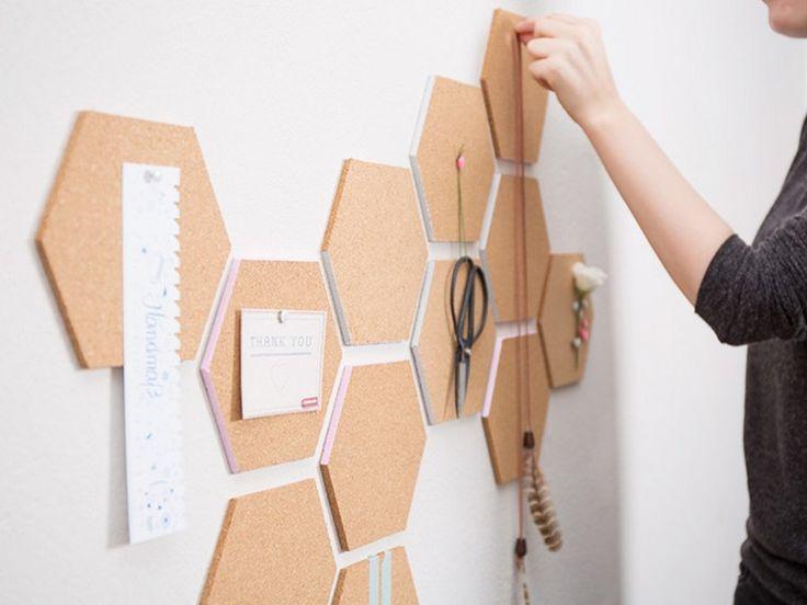 panneau affichage bureau mur idée espace travail