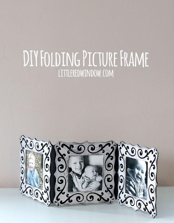 DIY Folding Picture Frame | DIYs Crafts & Recipes | Pinterest ...