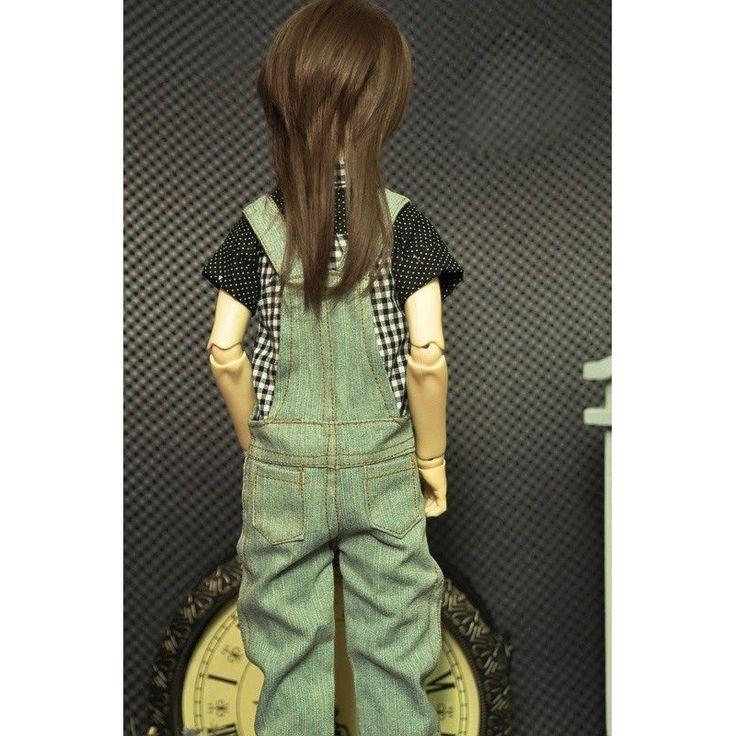 [wamami] 763# Light Blue Braces Jeans Pants Outfit 1/4 MSD DZ DOD BJD Dollfie