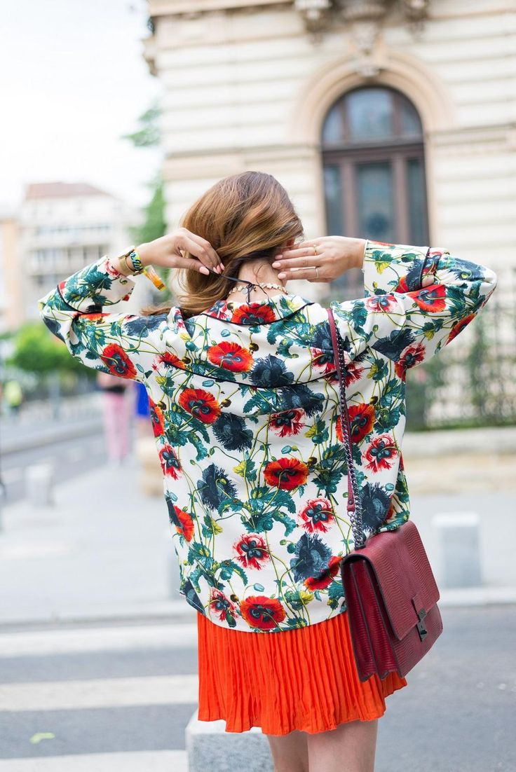 Pajama, floral print top  Bucharest style www.cristinafeather.com