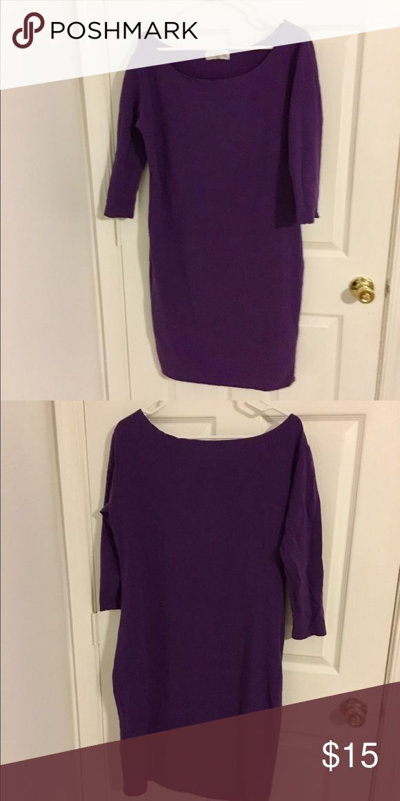Purple Bodycon Dress Purple Bodycon Dress with quarter sleeves. Dress hits my knees and I'm 5'3 and wear size 16 in dresses. tomsware Dresses Midi