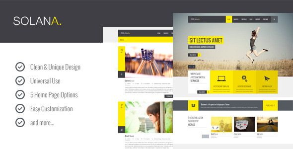 Amazing Flat Website PSD Templates download