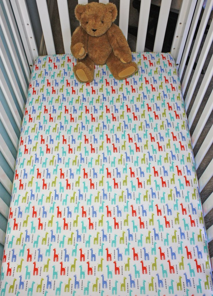 new to on etsy crib fitted sheet giraffes baby crib sheets