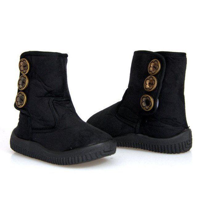 Eskimoski Dzieciece Unisex B 012 Czarny Czarne Boots Winter Boot Shoes