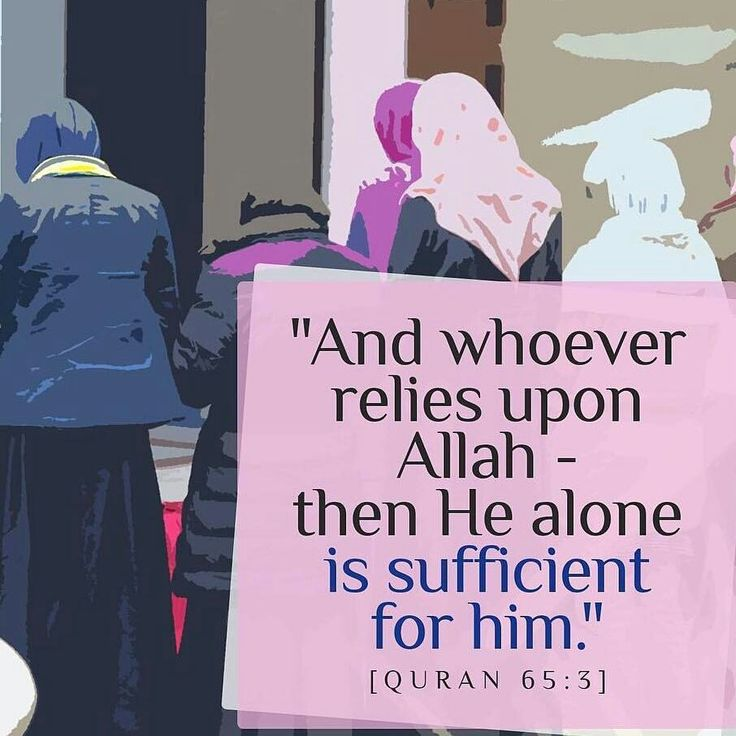 And whoever relies upon Allah - then He is sufficient for him. [65:3]