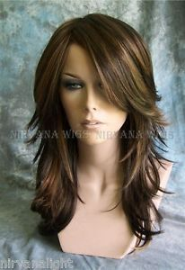 3Tone Brown with Auburn Tones highlights Long Layered Tarah Nirvana wig