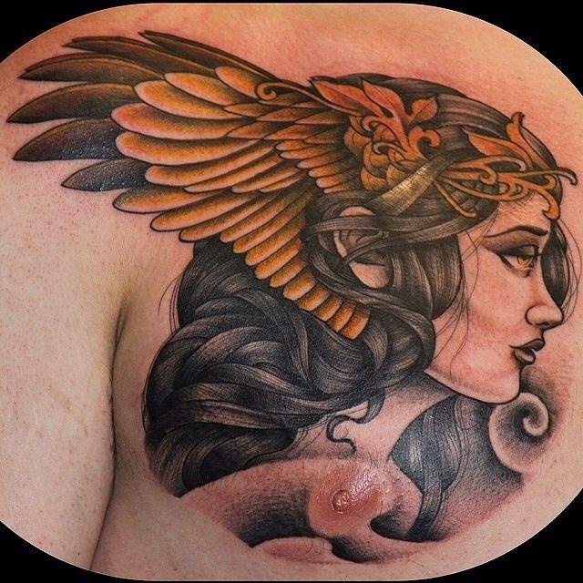 Valkyrie Girl by Ryan Breceda @ryanbreceda #valkyrietattoo #encinitas #454tattoo | 454 Tattoo & Piercing