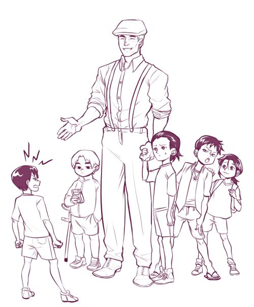 Kei Nagai, Sato/Samuel T. Owen, Koji Tanaka, Masumi Okuyama, Gen & Takahashi   Ajin Demi Human