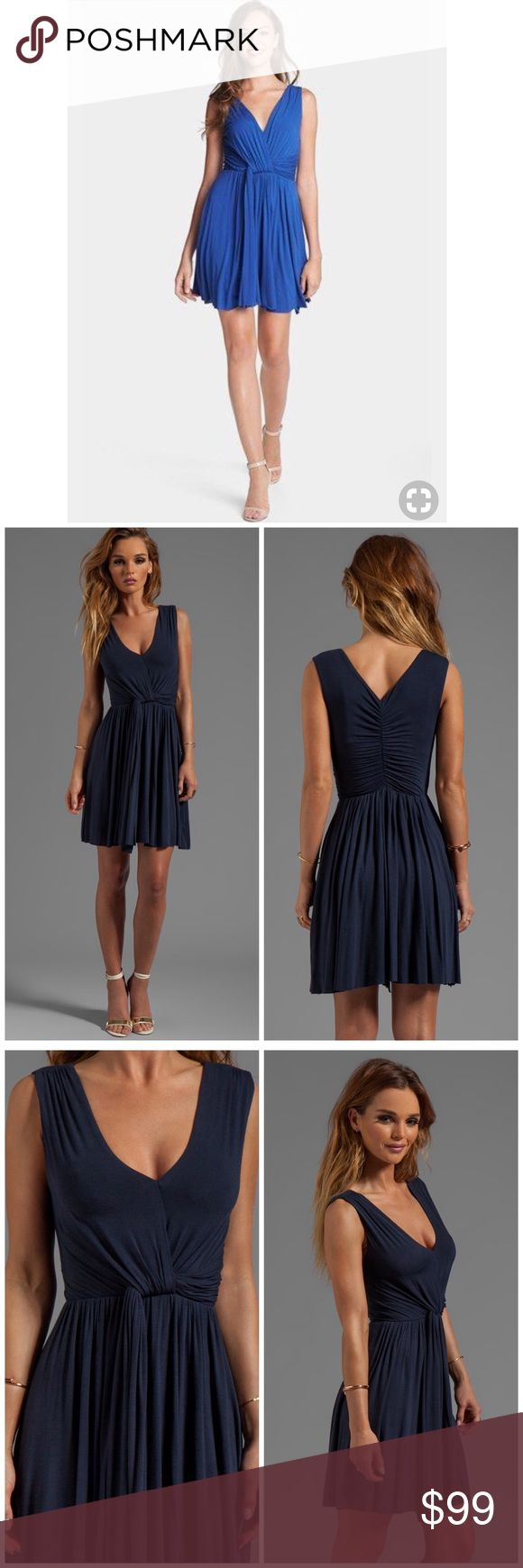 """Bailey 44 Madrigal Pleated Dress in Blue New with tags. 94% rayon 6% spandex. Approx 34"""" length. Fully lined. Ruched, draping detail. Shirred back seam. Raw cut hem. Offers welcome through offers tab. No trades. 10825171101 Bailey 44 Dresses"""