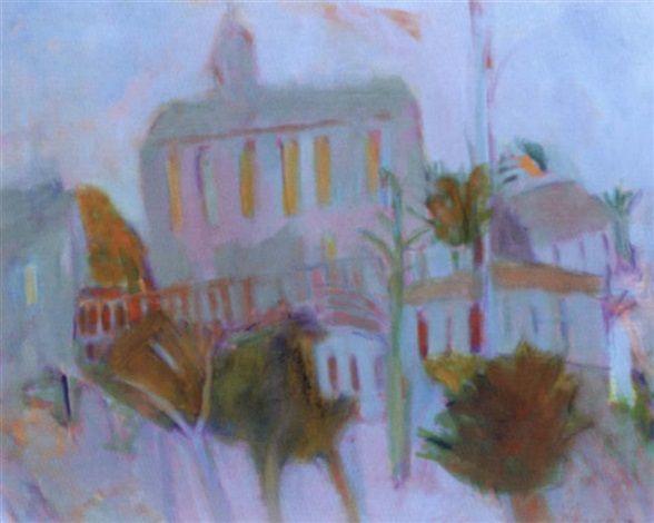 'ST ELVYNS, HAYLE' | Rose Hilton: Oil on canvas 61 x 76cm (24 x 29.9 in.)     ✫ღ⊰n