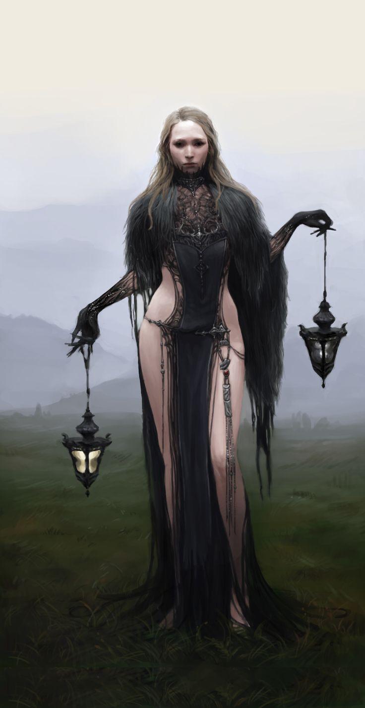 "fantasyartwatch: "" Black Witch by Jiyeon Ryu "" もっと見る"
