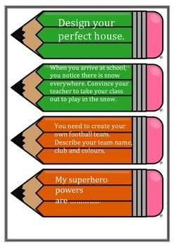 Great writing prompts to help assist creative writing.