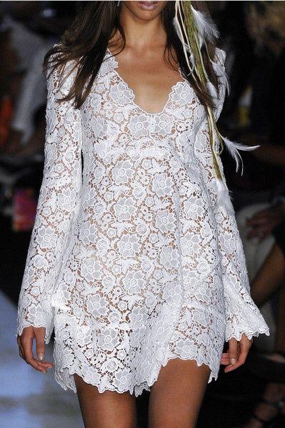 Diane von Furstenberg...irish lace