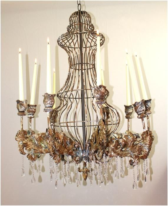 Huge Candle Rustic Tin Chandelier W Crystals For Home Or Movie Etsy In 2020 Huge Candles Rustic Candles Big Candles