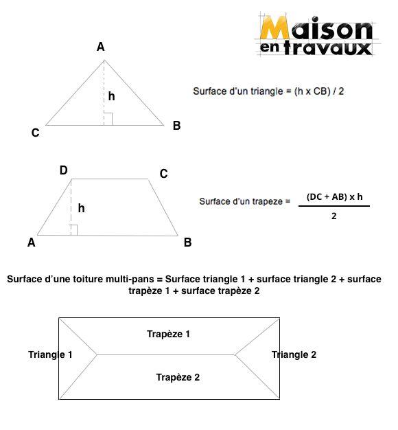 calculer la surface d'une toiture