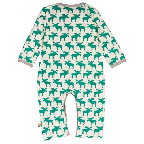 Last minute Christmas Stocking Filler: No Christmas without an Elk! Especially when there are a lot of them like on this gorgeous organic jumpsuit by German Eco label loud+proud.