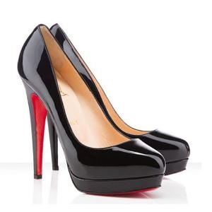Every girl needs a good pair of black heels. If they're Christian Leboutin...so much the better.