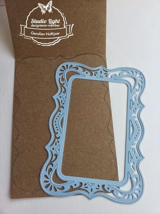 Easelkaart met paperpad Shabby Chic