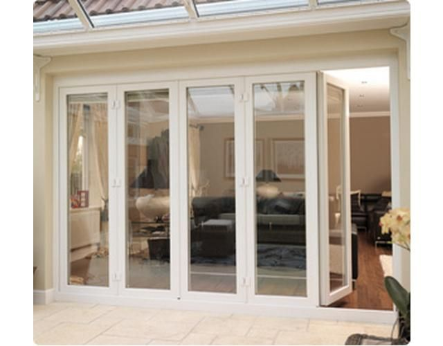 bifold exterior doors   DOUBLE GLAZED BIFOLD exterior FRENCH DOORS - sella Online Auctions ...