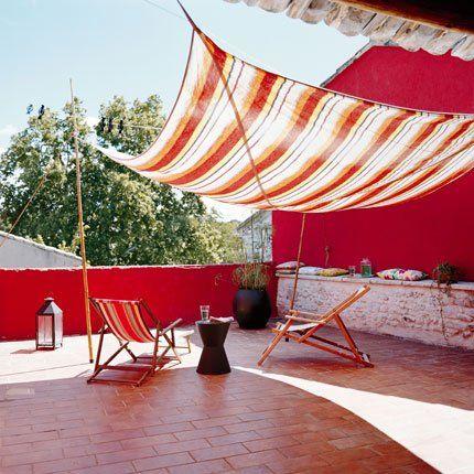 La terrasse comme un campement nomade
