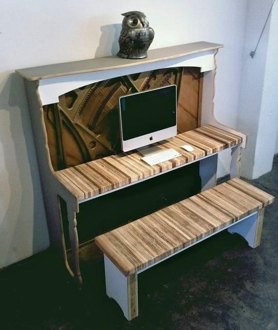 Les 25 meilleures id es de la cat gorie vieux pianos sur for Transformer un meuble bureau