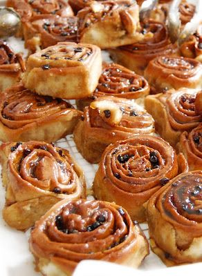 Relatable: when you actually see an object or food you've only READ about -British Chelsea buns-