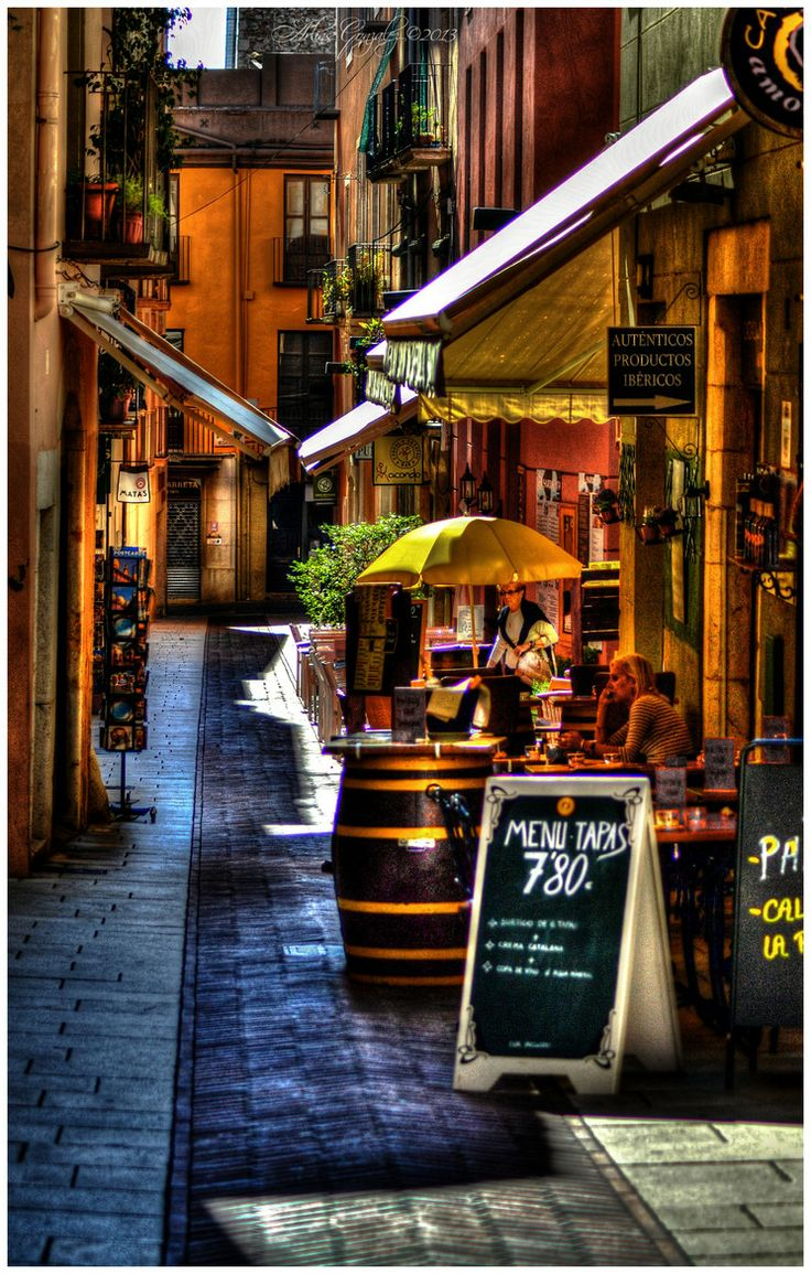 Street Cafe in Figueres, Spain