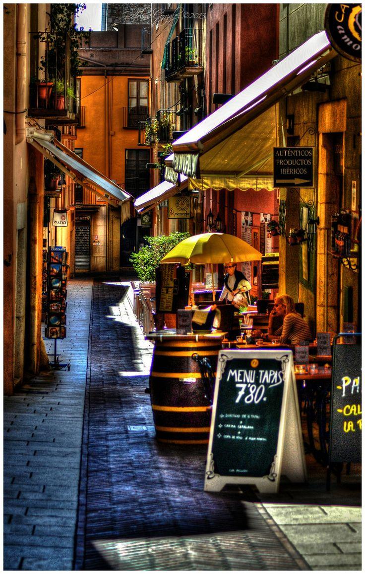 Street Cafe in Figueres, Spain