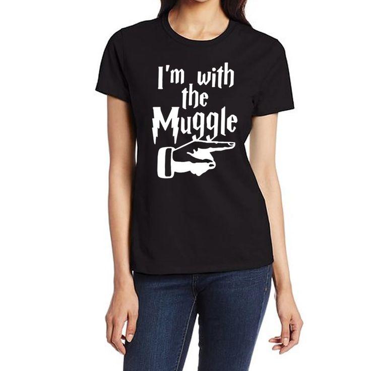 I'm with the Muggle T-Shirt  //Price: $15.99 & FREE Shipping //     #HarryPotter #Potter #HarryPotterForever #PotterHead #jkrowling #hogwarts #hagrid #gryffindor
