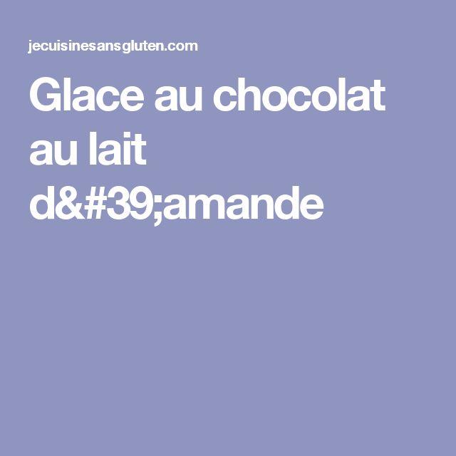 Glace au chocolat au lait d'amande