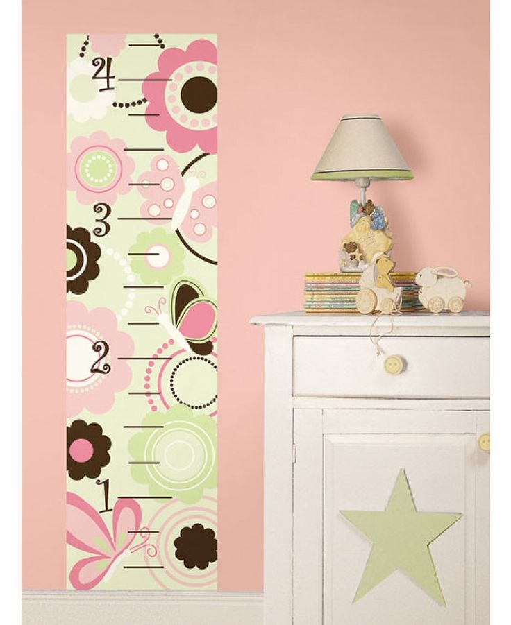 Create a fabulous feature in moments with this adorable Butterfly Garden Growth Chart from Wallpops. The self-adhesive height chart is a easy and affordable way to track your child's growth with minimal fuss or effort. The chart has a cute butterfly and flower theme and would look great in a nursery, playroom or bedroom. When you are ready for a change, the wall chart can be easily removed without marking the surface below.