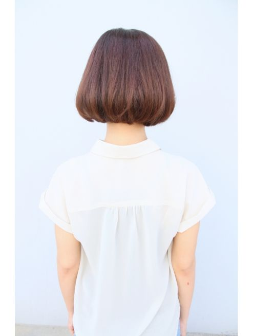 トランク ヘアー デザイン(tranq hair design)ショートバングの爽やかボブ