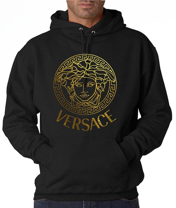 Men Versace Hoodie Sweatshirt screen printing on by Piano2015