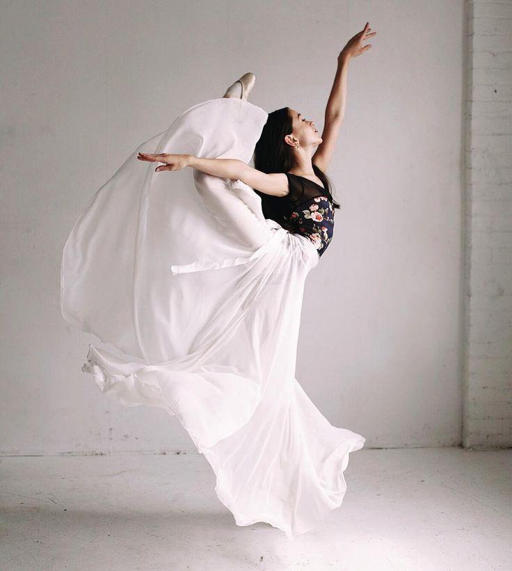 Bridgid Walker floats like a butterfly in her custom Luckyleo Dancewear leotard for ballet class!