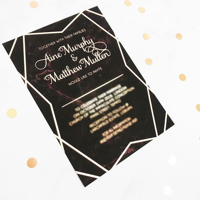 Congratulations To Aine Matthew Who Are Marrying Today In Lisburn Northern Ireland They Wedding Stationery Bespoke Wedding Stationery Geometric Invitations