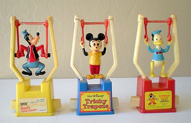 Tricky Trapeze 1970's  I got Goofy and Donald from the Easter Bunny.