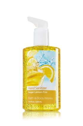 Sugar Lemon Fizz - Sanitizing Hand Gel - Bath & Body Works - Spread love, not germs. Our powerful germ-killing hand gel is enriched with an exclusive blend of moisturizing honey, coconut milk and olive fruit extracts to help nourish and soften skin, leaving hands feeling clean, soft and lightly scented with an upbeat blend of fresh lemon, sugared vanilla and white grapefruit.