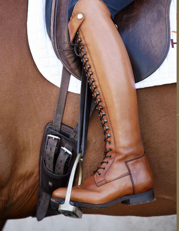 Bia dressage boot in claro (light tan).