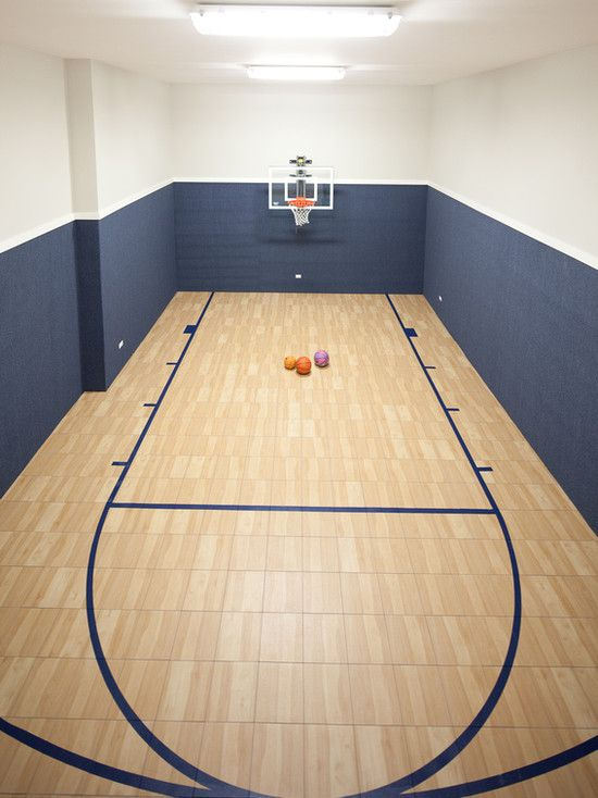 White house basketball court inside for Home indoor basketball court cost
