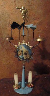 German Angel Chimes Antique German Nativity Tin