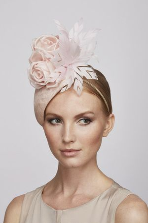 Pale pink flower teardrop | Juliette Botterill Millinery SS 2014