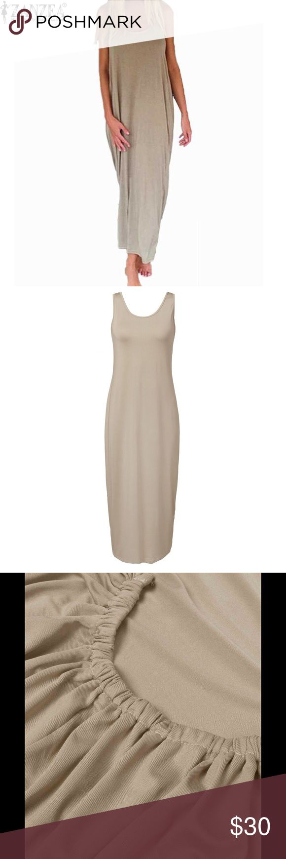 Beige Summer dress You'll love this dress. So comfy and light. Dresses Maxi