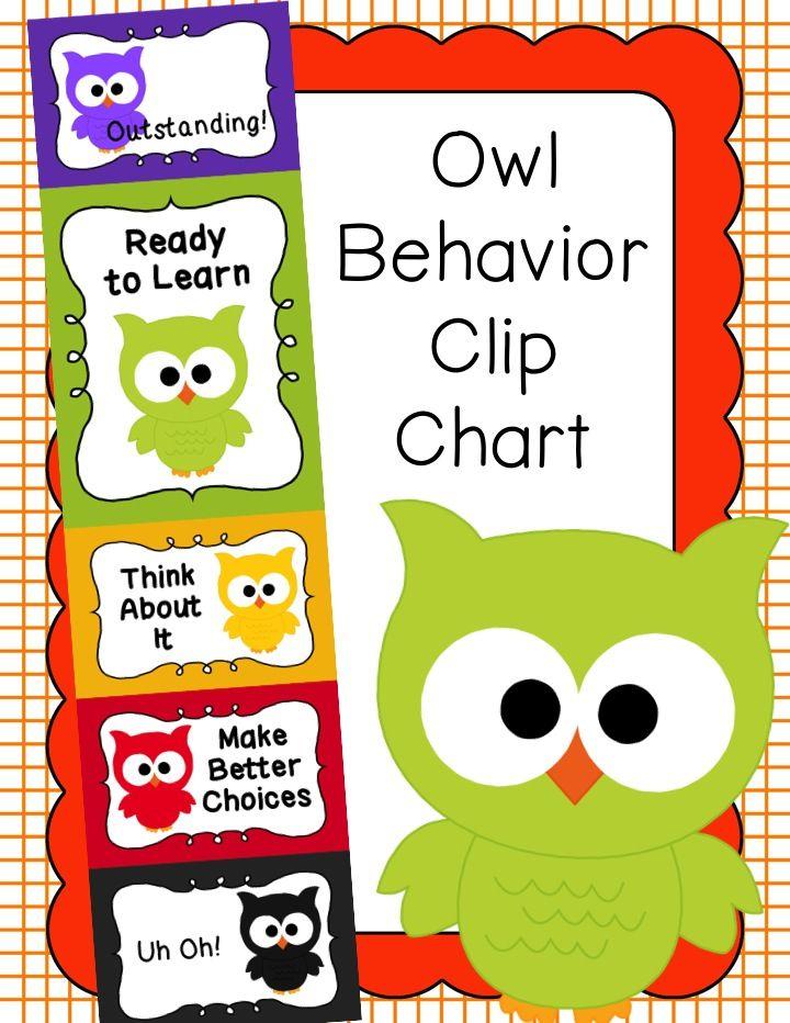 behavior clip chart behavior management owls owl. Black Bedroom Furniture Sets. Home Design Ideas