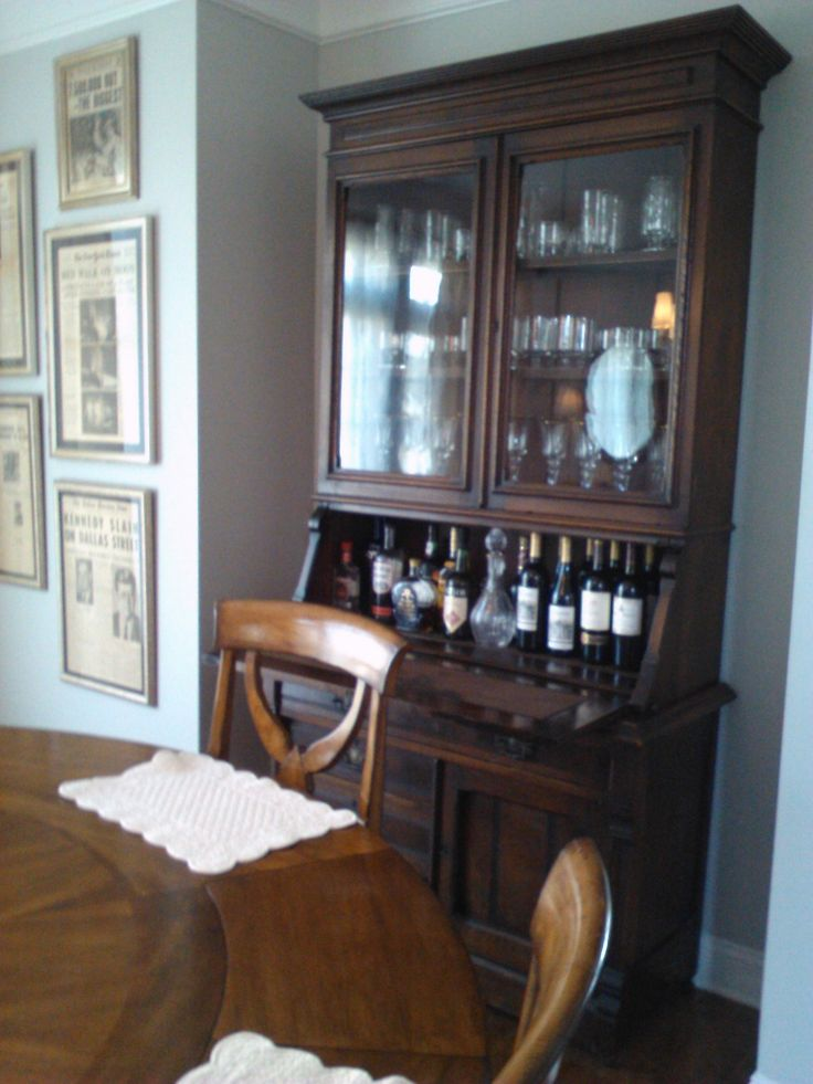 Repurposed Secretary Desk A Nice Bar House