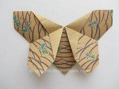 origami butterfly - full instructions for origami fabric butterfly    un autre bien, plus ouvert