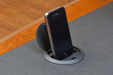 USB Docking Station Built Into Desk Product Design