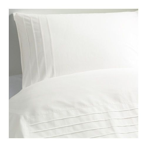 ALVINE STRÅ Duvet cover and pillowcase(s) IKEA Combed cotton; gives the bedlinen a soft feel and an extra smooth and even surface.