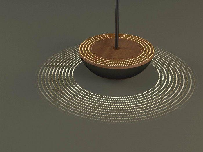 WIBBLE Floor lamp with a weighted base to wooble by Sebastien Garcin www.sebastiengarcin.com