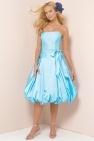 Sky Blue Taffeta Made A-line Knee Length Fashion Couture Bridesmaid Gowns, Bridesmaid Dresses - dressale.com