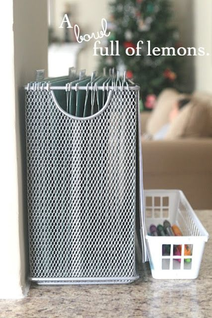 "This post has some good ideas for creating a ""mail station."" No more random piles of mail!  :)  This way all the mail gets sorted and dealt with right away."